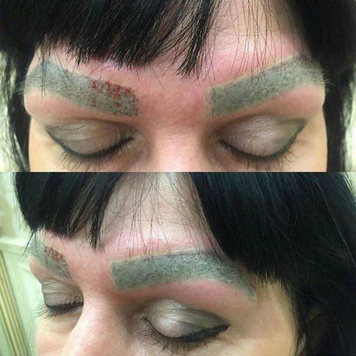 Зеленые брови.