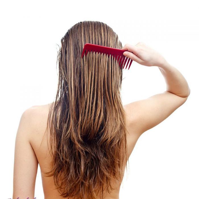 Привычка расчесывать мокрые волосы.