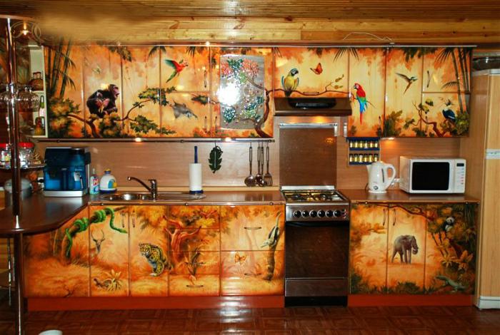 Веселый дизайн кухни.