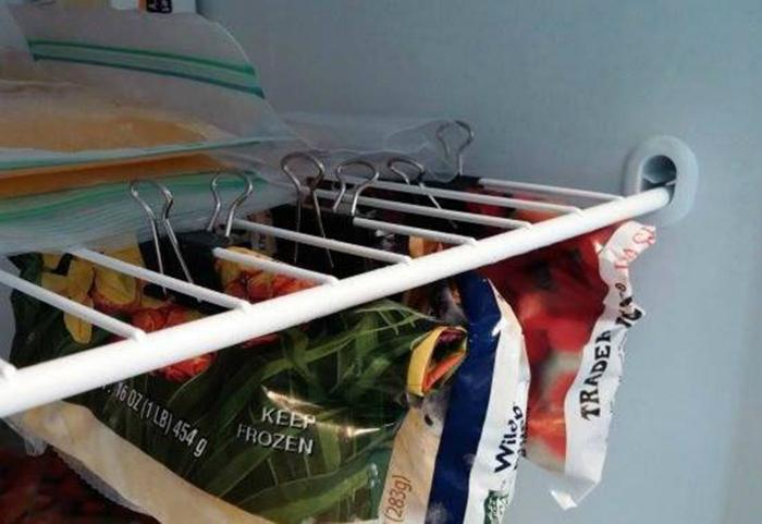 Способ хранения продуктов в холодильнике.
