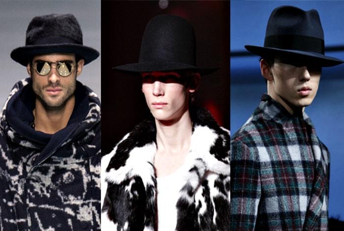Мужские шляпы в ганстерском стиле.