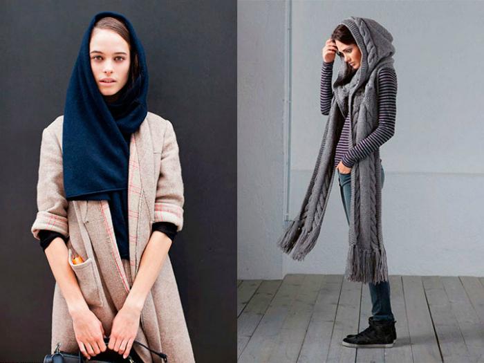 Два в одном: головной убор и шарф.