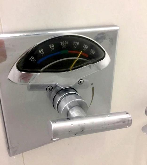 Кран душа с термометром.
