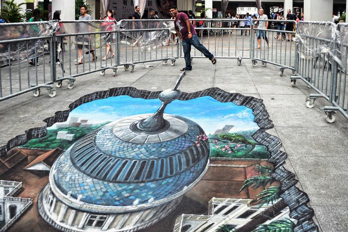 Реалистичный 3D рисунок башни, пробивающейся из-под земли.