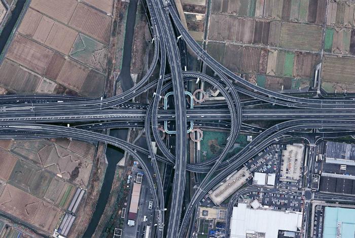 Большой транспортный узел города Киото.