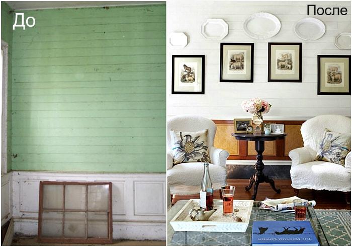 Редизайн гостиной в старинном особняке.