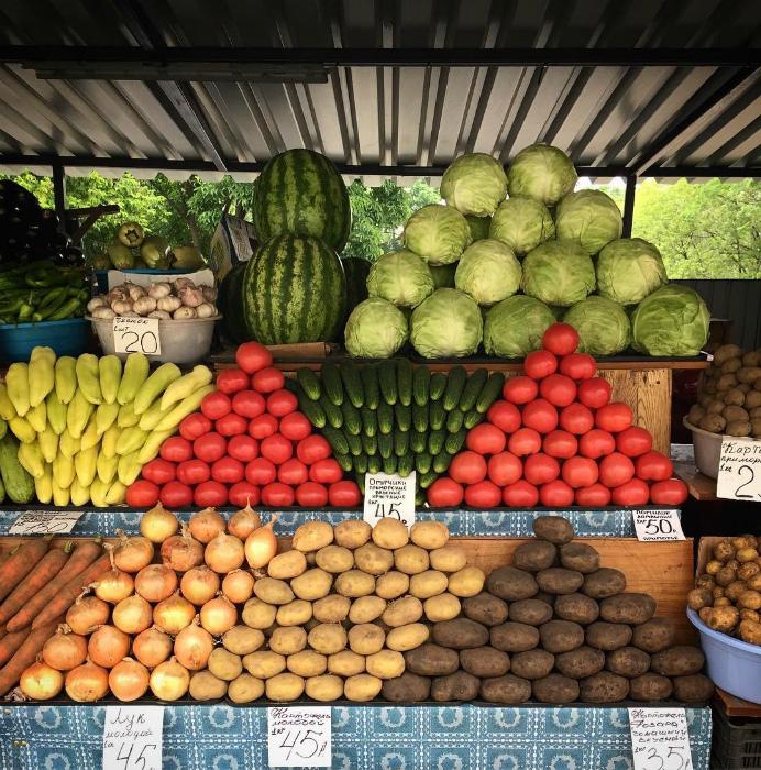 Овощи как на подбор. | Фото: Fishki.net.