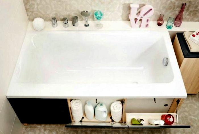 Шкафчики под ванной. | Фото: Архидея.