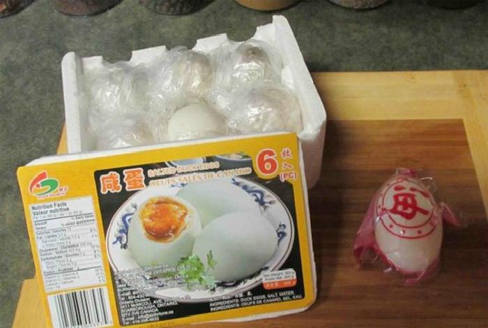 Упаковка вареных яиц. | Фото: Congnghe.vn.