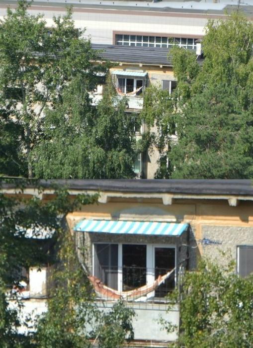 Гамак на балконе.