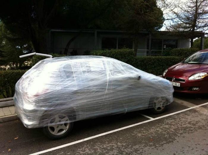 Упакованный автомобиль.