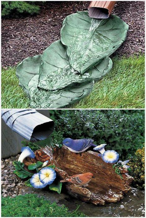 Декоративный сток дождевой воды. | Фото: Pinterest.