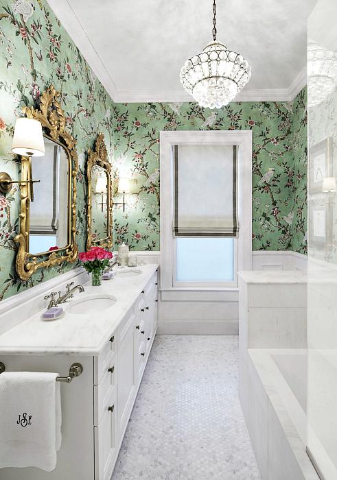 Свежий интерьер ванной.
