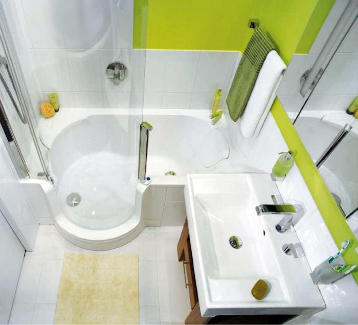 Ванна с душевой кабинкой. | Фото: Ciscoexpo.ru.