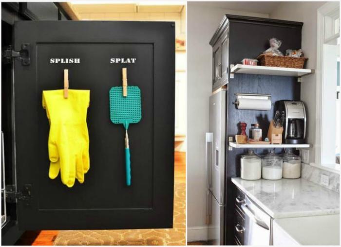 Хранения на торцах и на дверцах. | Фото: Kitchen Decorium, Идеи вашего дома.