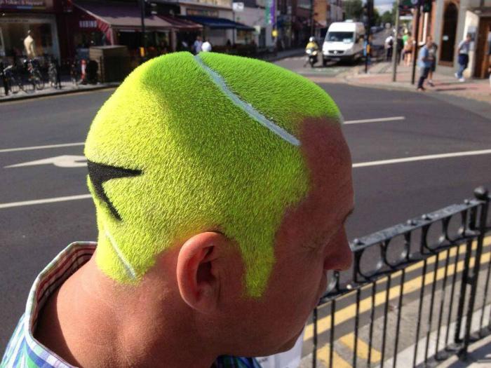Голова, как теннисный мяч.