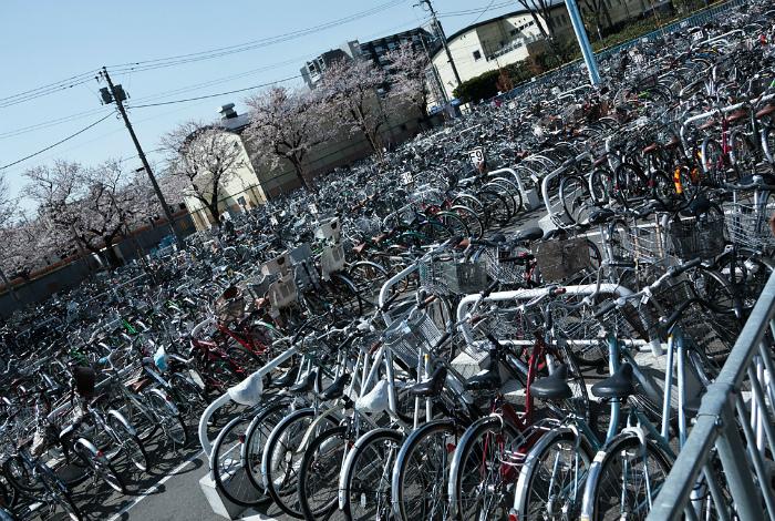 Адские велосипедные парковки в Японии.