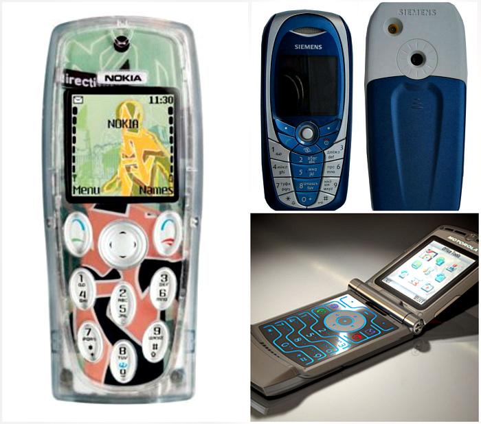 Культовые модели телефонов. | Фото: Википедия.