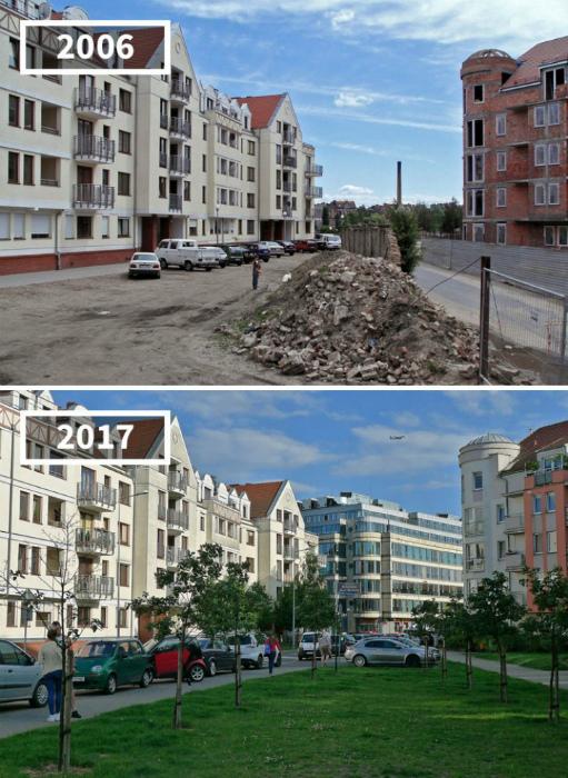 Улица Чиперска, Познань, 2006 и 2017.