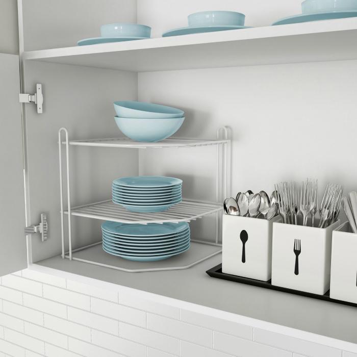 Многоярусная подставка для посуды. | Фото: Женские хитроспетения.