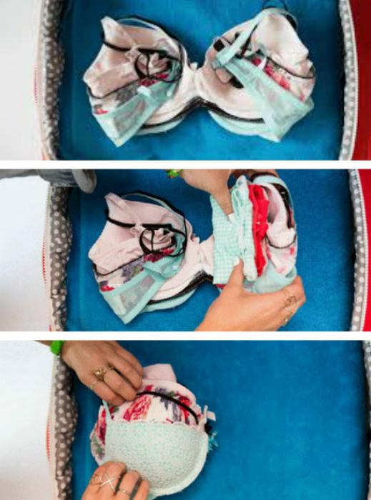 Фотоинструкция по упаковке белья.