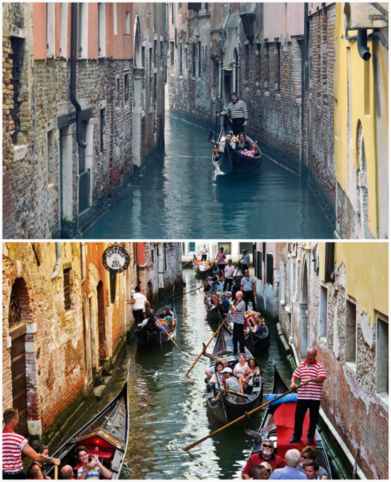 Прогулка на гондоле по Венеции.