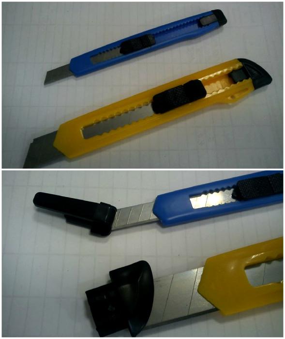 Заглушка канцелярского ножа.