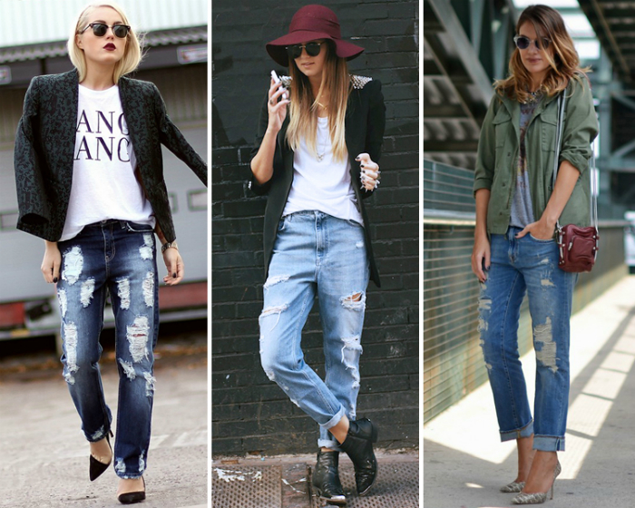 Свободные джинсы бойфренды.