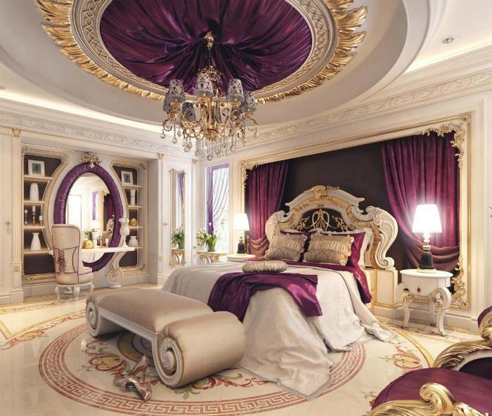 Роскошный интерьер женской спальни.