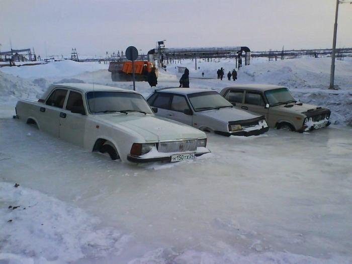 Обычная зима в Норильске.