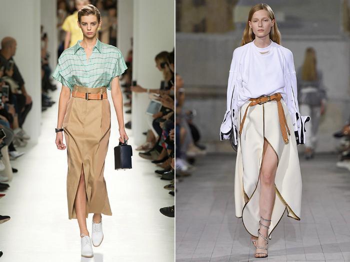 Модные модели длинных юбок.