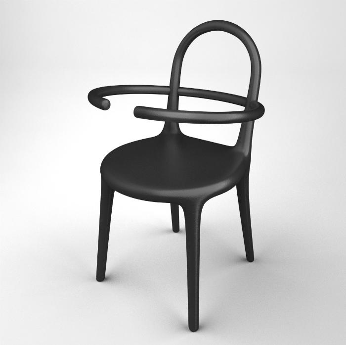 Странный стул с обручем.