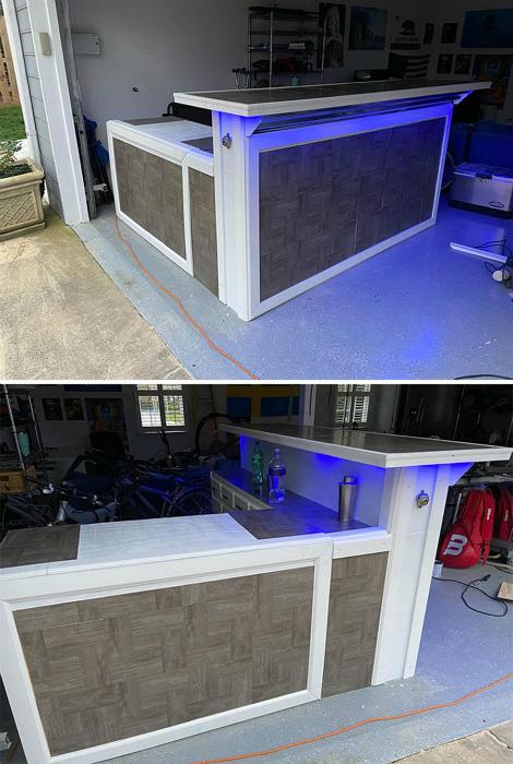 Собственный бар в гараже.   Фото: Pausecafein.