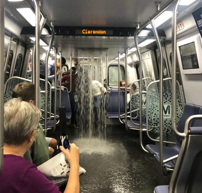 Бодрящий душ в неожиданном месте. | Фото: DCist.
