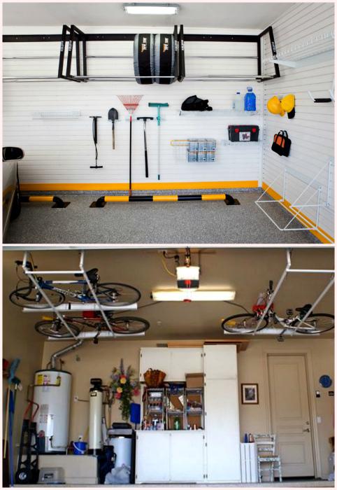 Хранение шин и велосипедов. | Фото: thegolfclub.info, Domovityi.ru.
