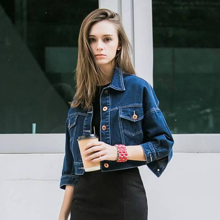 Короткая джинсовая курточка. | Фото: shopogolik-club.