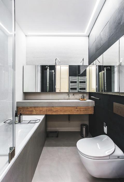 Ванная комната в стиле урбан.