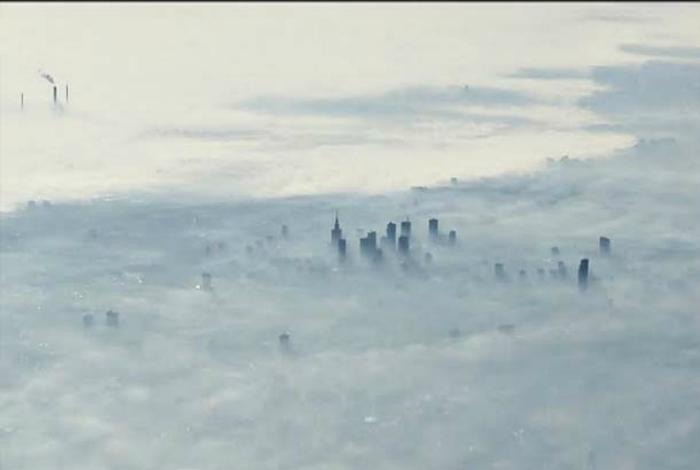 Утренний туман над Варшавой. Фотограф: Крис.