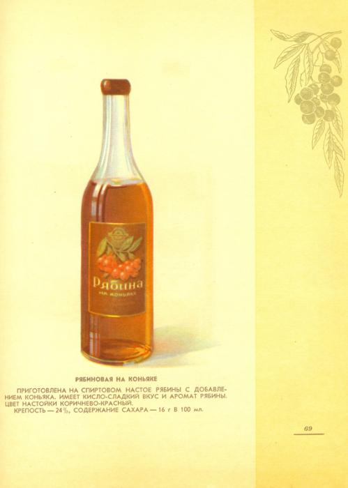 Кисло-сладкая настойка, приготовленная на спиртовом настое рябины с добавлением сахара и коньяка.