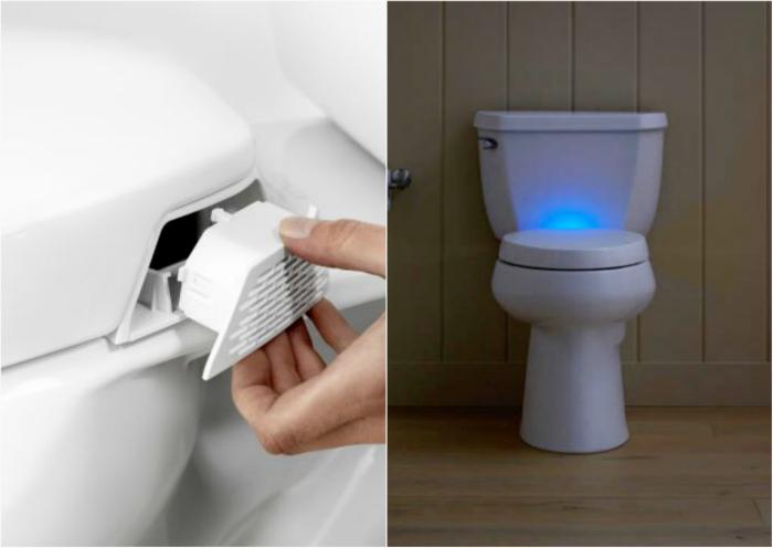 Туалетное сидение с освежителем воздуха.