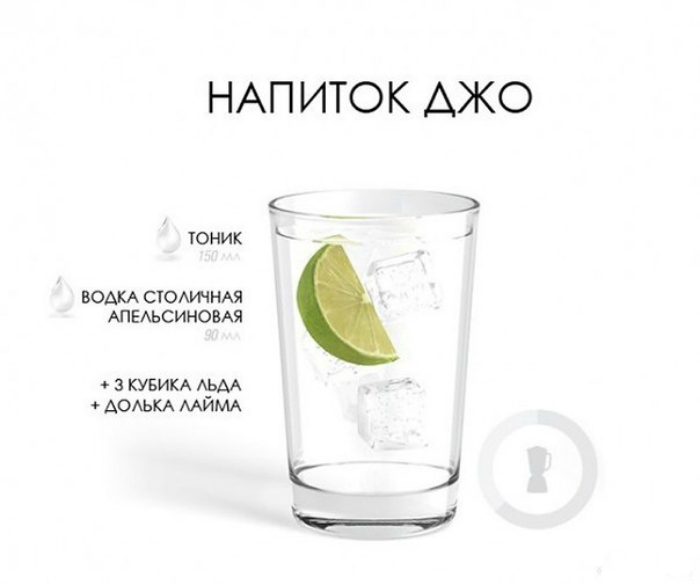 Крепкий мужской напиток, содержащий апельсиновую водку и тоник.