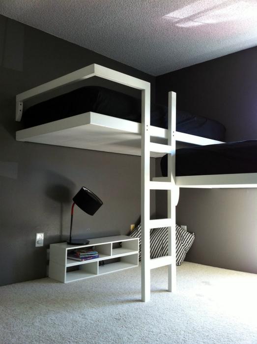 Спальня под потолком своими руками 74