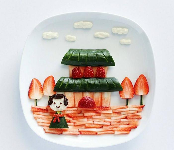 Необычный фруктовый десерт.