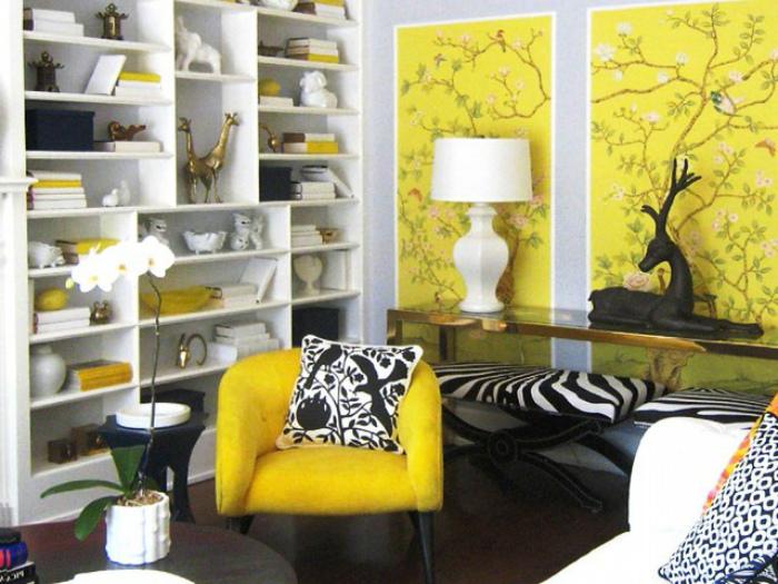 Яркие панели на стенах.   Фото: Deskgram.