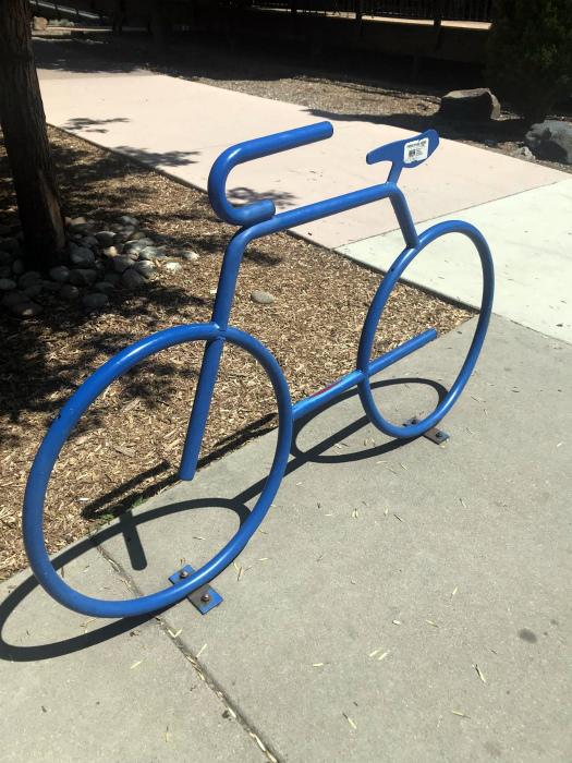 Парковка для велосипеда.