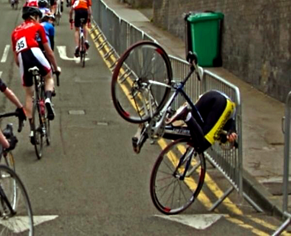 Несчастный велосипедист.