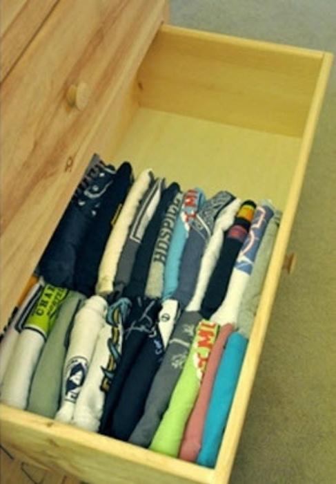 Упорядоченное хранения одежды.