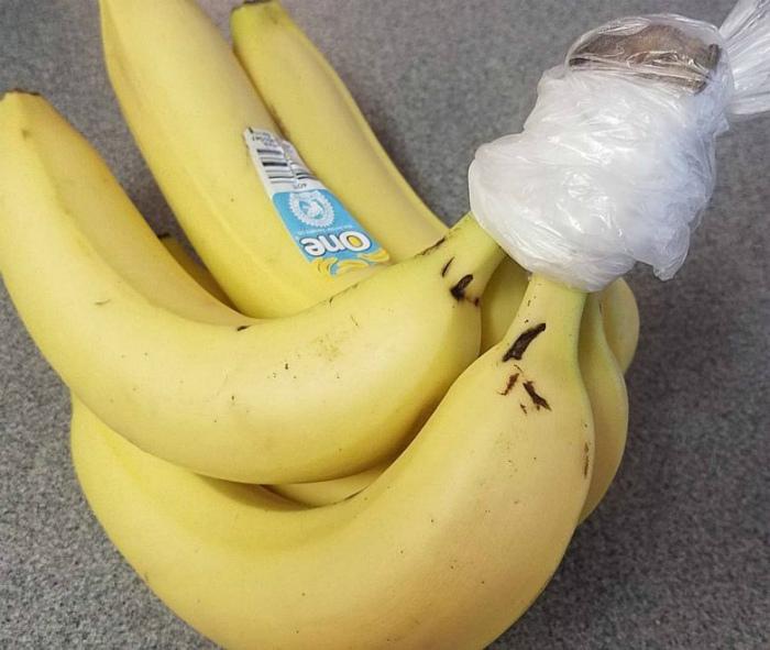 Хранение бананов. | Фото: Pinterest.