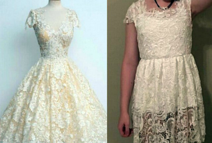 Унылое платье.