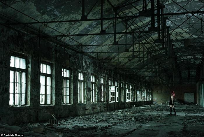 Заброшенный завод «Красный треугольник», строительство которого начиналось еще в 19 веке.